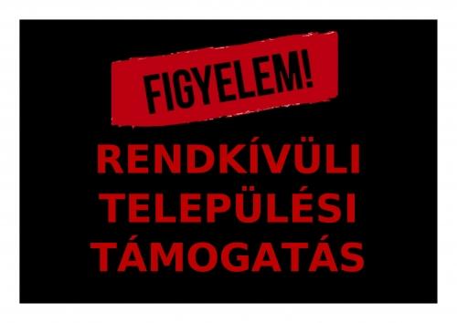 RENDKÍVÜLI TELEPÜLÉSI TÁMOGATÁS KÉP-1